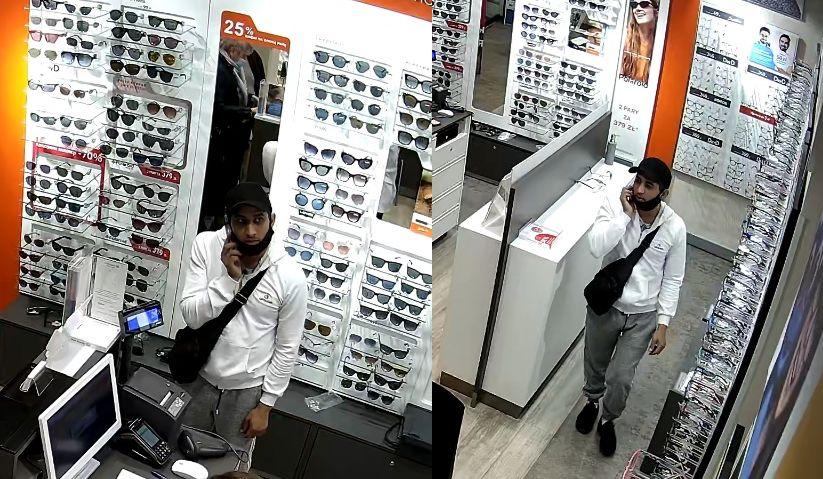 Mężczyzna ze zdjęcia ukradł dwie pary markowych okularów