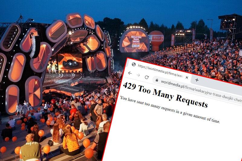 Nie działa strona do rezerwacji darowych biletów na niedzielny koncert Wakacyjnej Trasy Dwójki w Chełmie