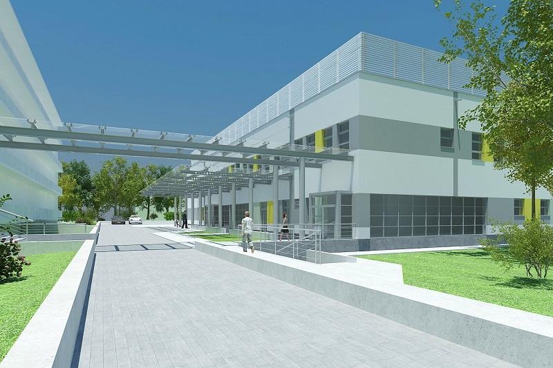 Wizualizacja nowej siedziby dla oddziału ginekologiczno-położniczego oraz neonatologicznego w Szpitalu Powiatowym w Kraśniku