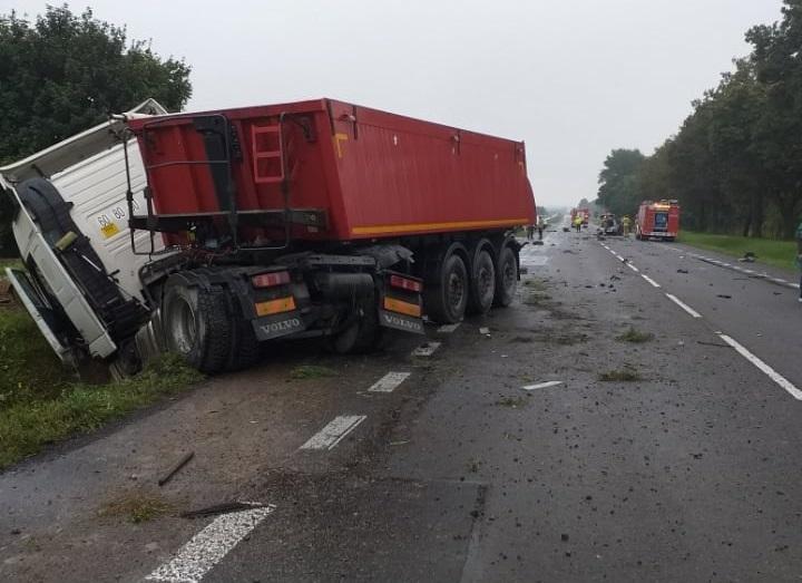 Wypadek na DK 12 w Brzezicach koło Piask