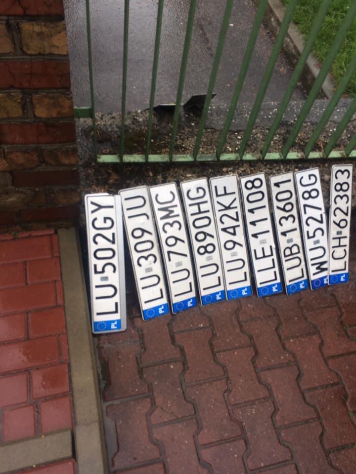 Zgubione tablice rejestracyjne na ul. Budowlanej