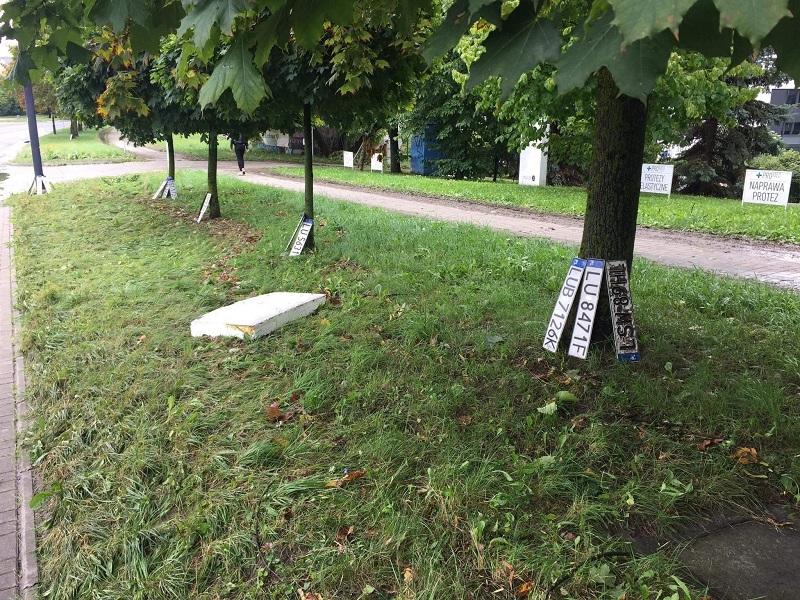Znalezione tablice rejestracyjne przy ul. Związkowej