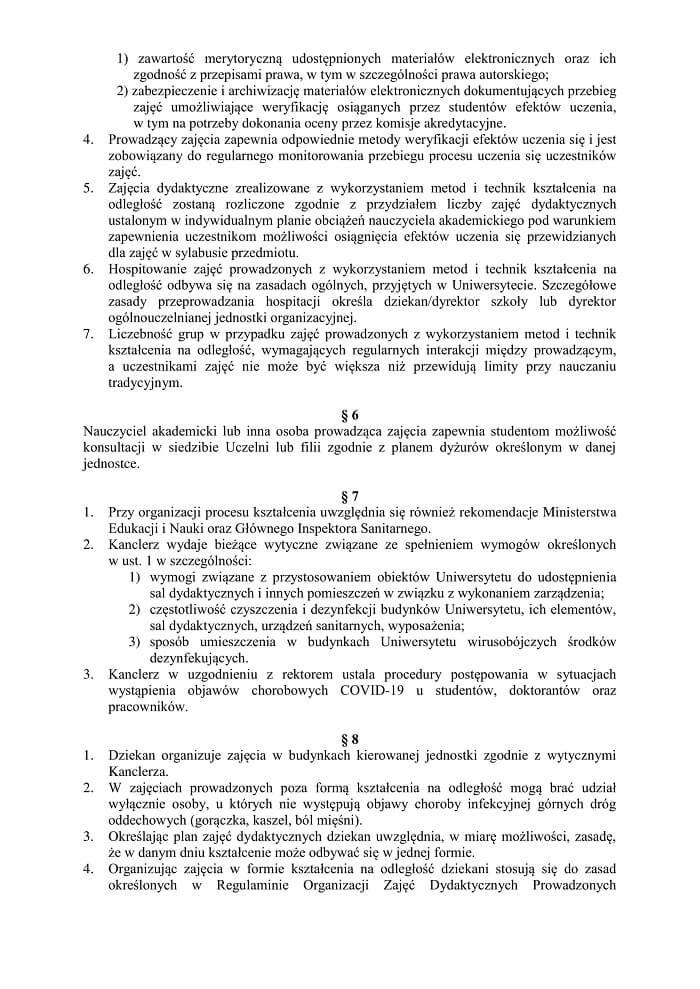 Zarządzenie Rektora UMCS ws. powrotu studentów na uczelnię