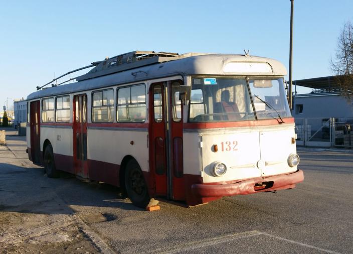 Trolejbus Skoda 9 Tr przed odrestaurowaniem