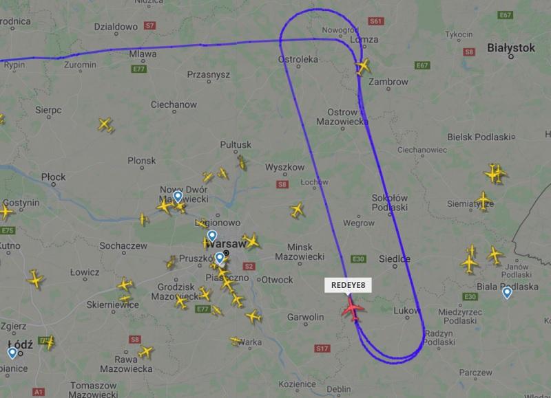 Samolot U.S. Air Force nad województwem lubelskim 13.09.2021