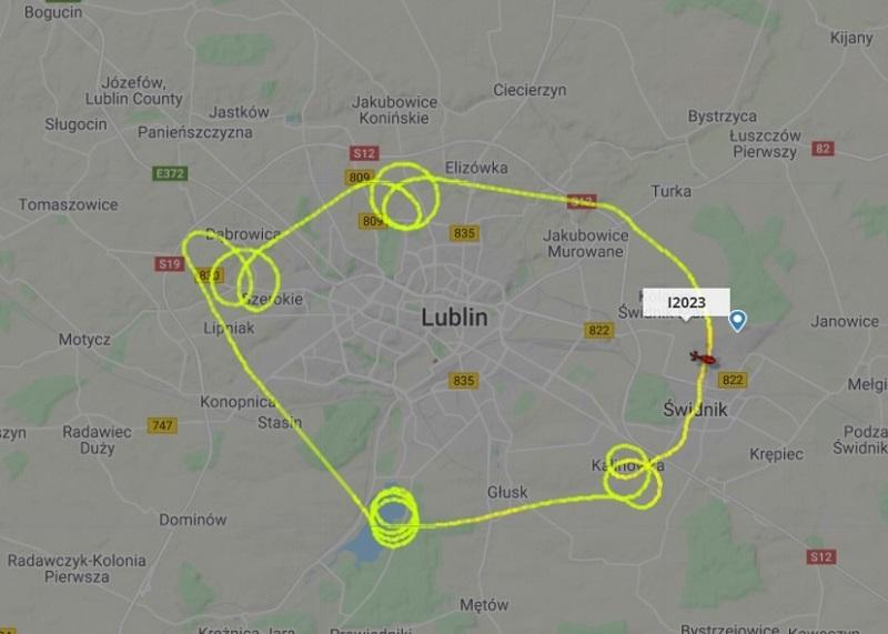 Wtorkowy lot helikoptera nad Lublinem
