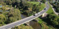Most w ciągu DK82 na wjeździe do Łęcznej
