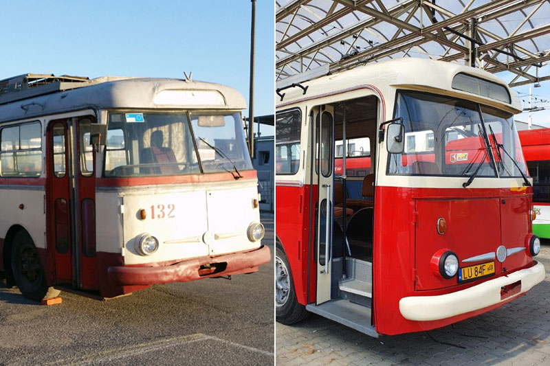 Odrestaurowany trolejbus Skoda 9 Tr przez MPK Lublin