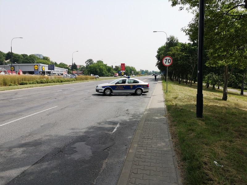 Radiowóz Straży Miejskiej na al. Tysiąclecia