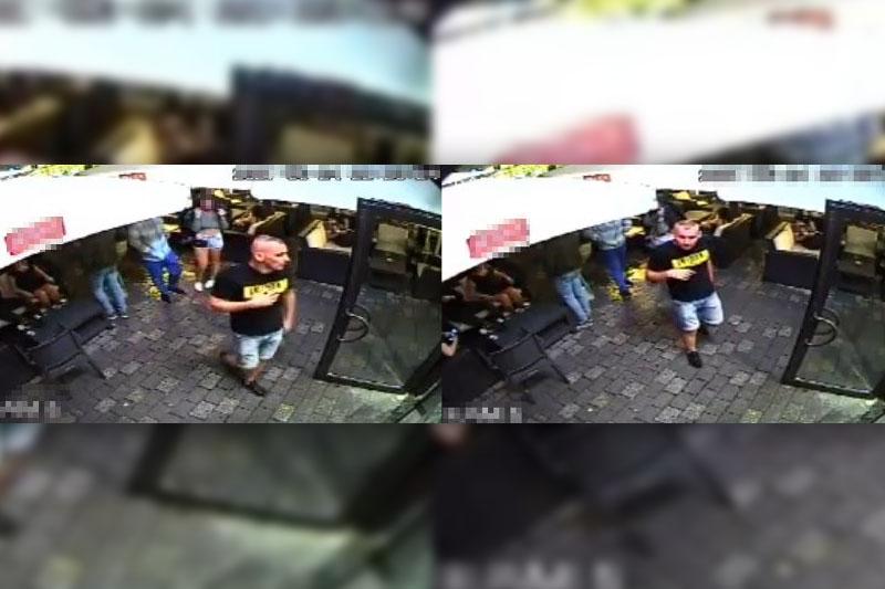 Wizerunek mężczyzny, który umyślnie uszkodził skodę w centrum Lublina