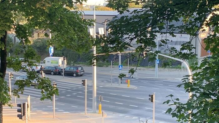 Zderzenie trzech aut na ul. Męczenników Majdanka
