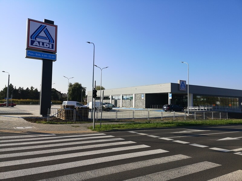 Aldi przy ul. Zelwerowicza w Lublinie
