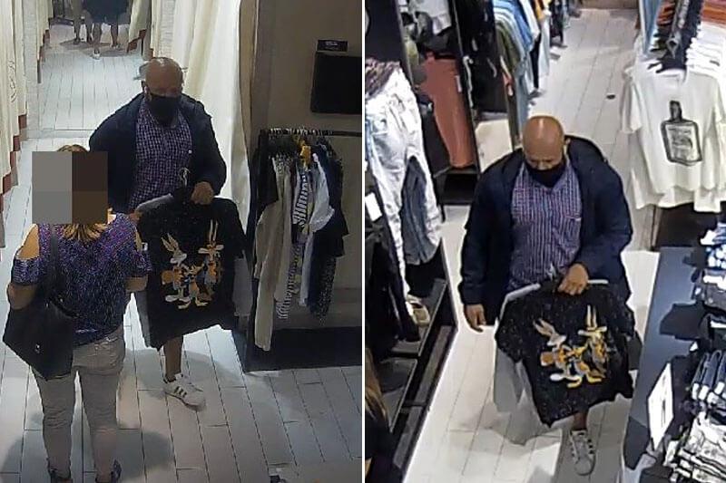 Ukradł spodnie wykorzystując nieuwagę personelu