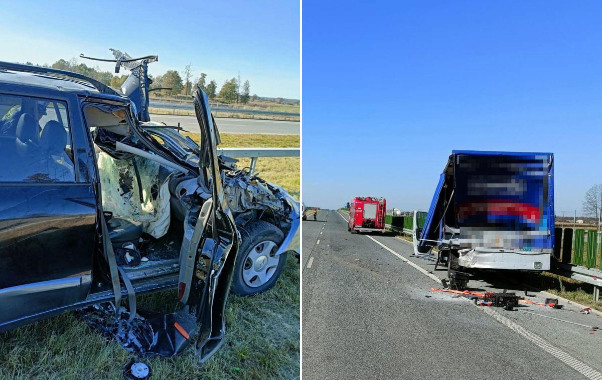Wypadek na S17 w kierunku Warszawy